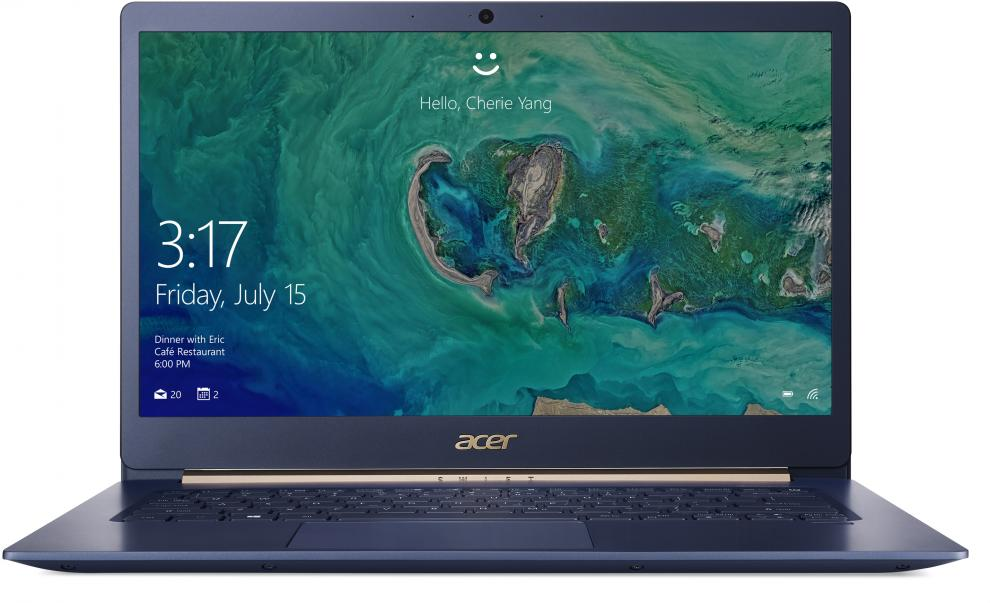 "Acer Aspire Swift 5 Pro SF514-52TP-87UE (NX.H0DEX.006) 14.0"" IPS FHD Touch, i7-8550U, 8GB , 512GB SSD, Win 10 Pro, Син"