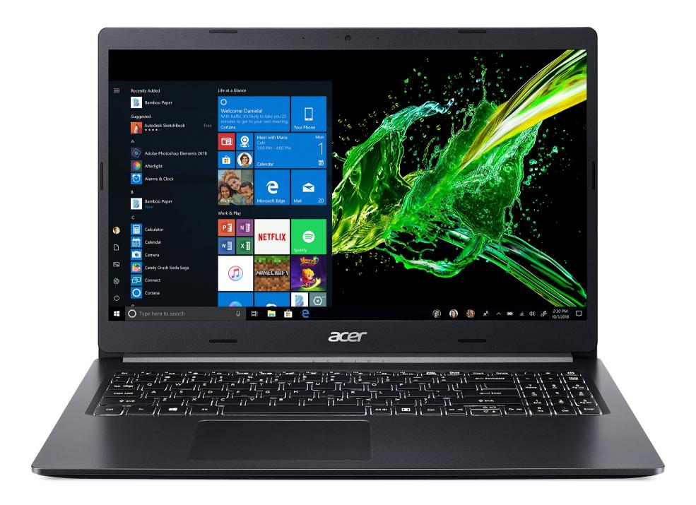 "UPGRADED Acer Aspire 5 A515-54-365E, 15.6"" FHD IPS, i3-8145U, 4GB, 256GB SSD, Черен 