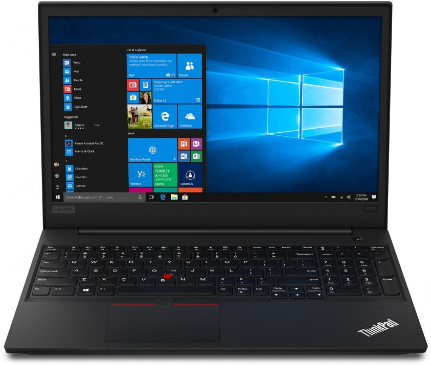 "UPGRADED Lenovo ThinkPad Edge E590, 15.6"" FHD, i5-8265U, 12 GB, 128GB SSD, 1TB HDD, RX 550X, Черен 20NB006XBM, Win10 Pro"