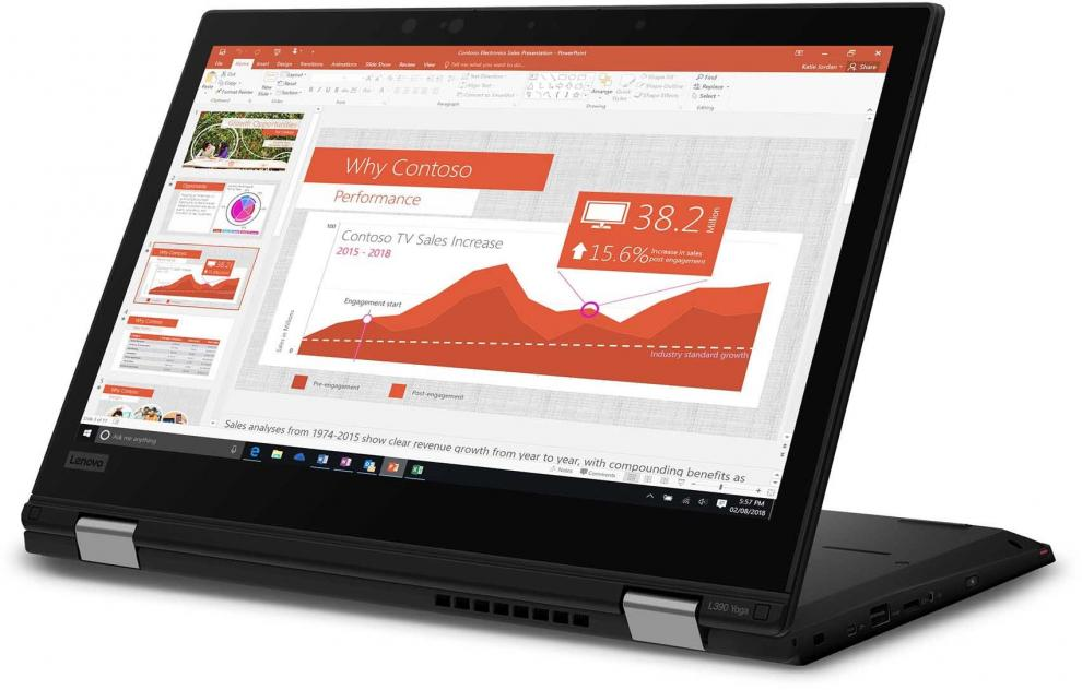 "UPGRADED Lenovo ThinkPad L390 Yoga 13.3"" FHD Touch, i7-8565U, 32 GB, 512GB SSD, Win 10 Pro, Черен 20NT0029BM"
