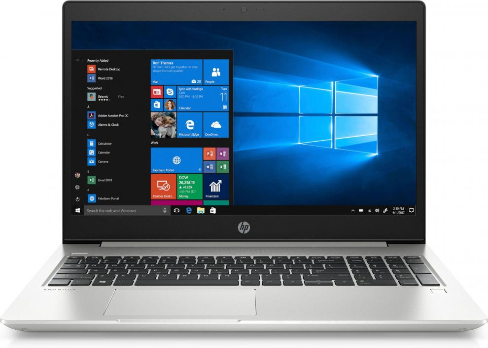 "UPGRADED HP ProBook 450 G6 | 15.6"" FHD IPS, i7-8565U, 16 GB, 256GB SSD, Сребрист 6BN81EA, Win10 Pro"