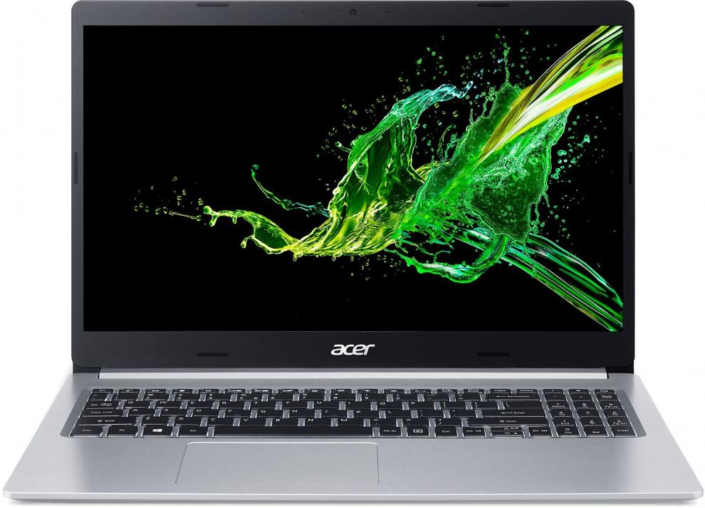 "Acer Aspire 5 A515-54G-734T, 15.6"" FHD IPS, i7-10510U, 8GB, 1TB, MX250, Сребрист 