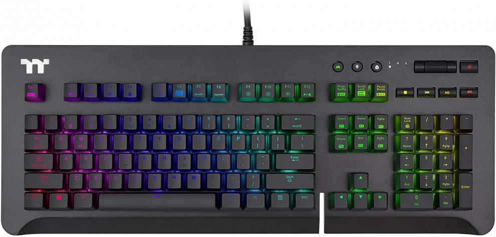 Геймърскa клавиатура TteSports Level 20 GT RGB Cherry MX Blue, US Layout