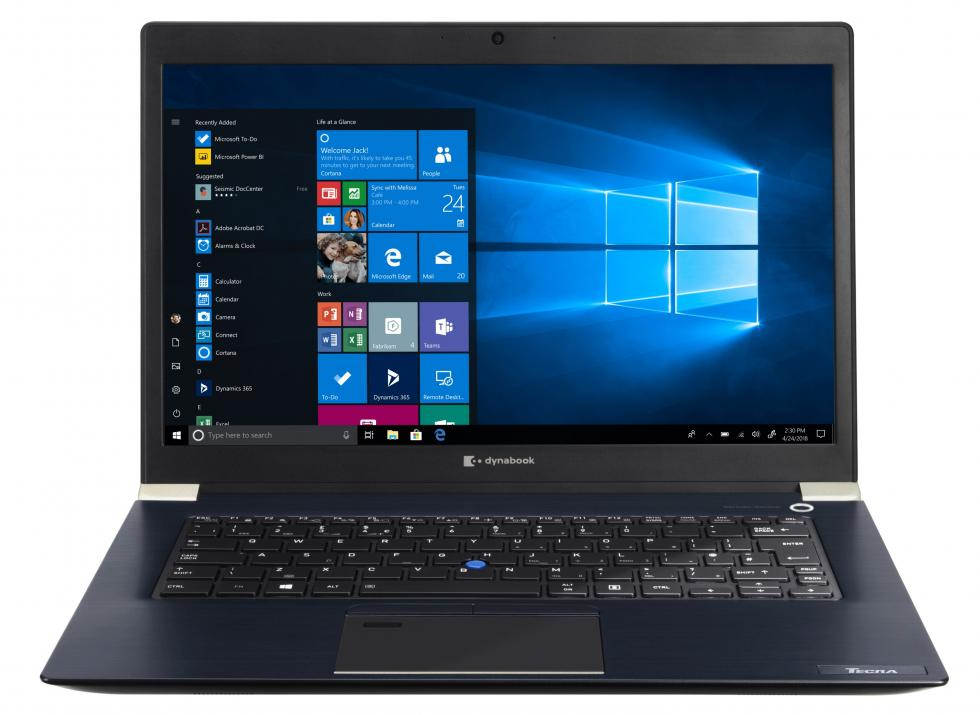 "UPGRADED Dynabook Toshiba Tecra X40-F-12F, 15.6"" FHD, i5-8265U, 8GB, 256MB SSD, Win10 Pro, Backlit KBD, Blue Black 