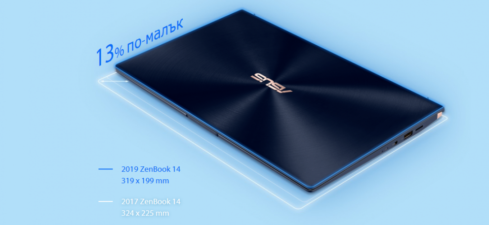 "UPGRADED Asus ZenBook 14 UX434FQC-WB501R, 14"" FHD, i5-10210U, 8GB, 1 TB SSD, Win10 PRO, Blue 
