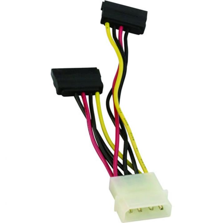 VCom Кабел SATA Power 2x - CE352-0.15m