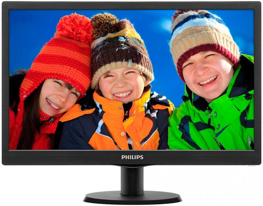 "Монитор Philips 203V5LSB26/10 20"" LED 1600 x 900, Черен"