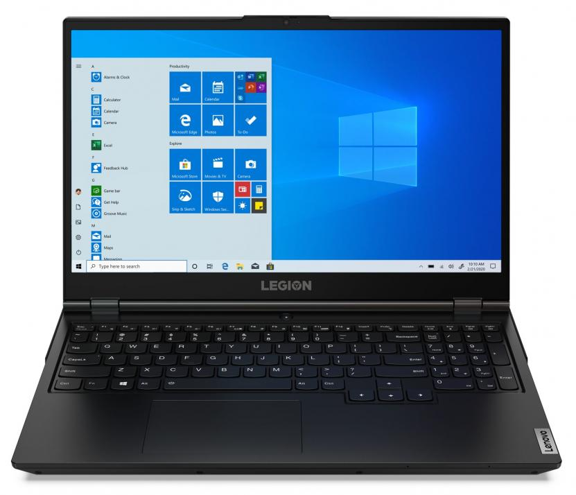 "UPGRADED Lenovo Legion 5, 17.3"" FHD, i7-10750H, 32 GB, 1TB SSD, RTX 2060 6GB, Черен 