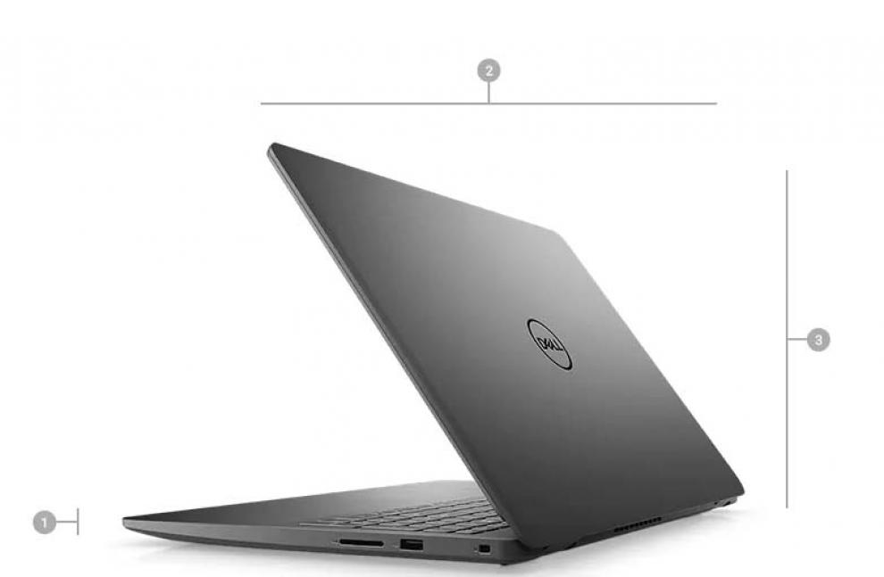 "UPGRADED Dell Vostro 15 3500, 15.6"" FHD, i5-1135G7, 4GB DDR4, 1TB HDD, 512 GB SSD 5400 SATA, Linux, Черен"