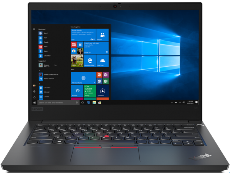 "UPGRADED LENOVO ThinkPad E14, 14.0"" FHD AG, Ryzen 7 4700U, 24 GB, 512GB SSD, Black 