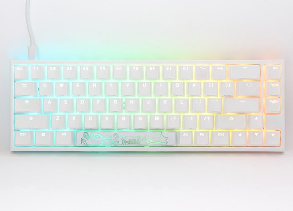 Геймърскa механична клавиатура Ducky One 2 SF White RGB, Kailh BOX Silent Pink | DUCKY-KEY-1967-KUSPDWWTI