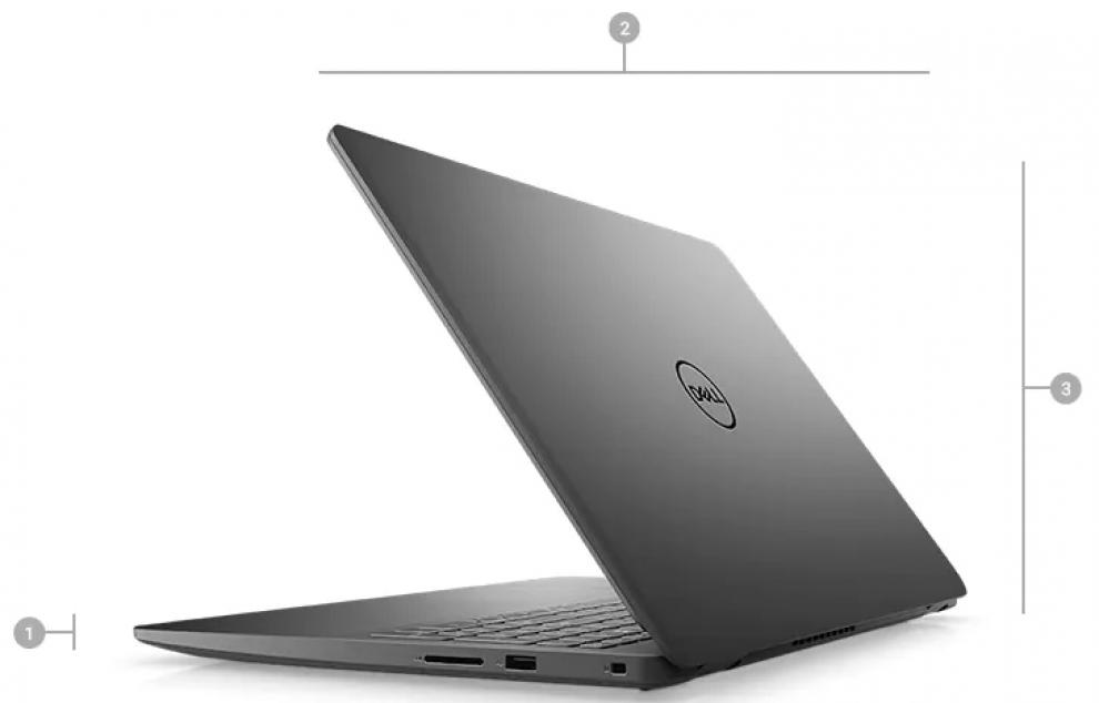 "UPGRADED Dell Vostro 3500, 15.6"" FHD, i7-1165G7, 8GB, 1 TB SSD, MX330 2GB, Linux, Черен 