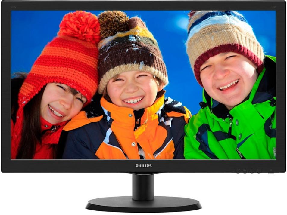 "Монитор 21.5"" Philips 223V5LSB FHD (1920x1080) LED, Черен"