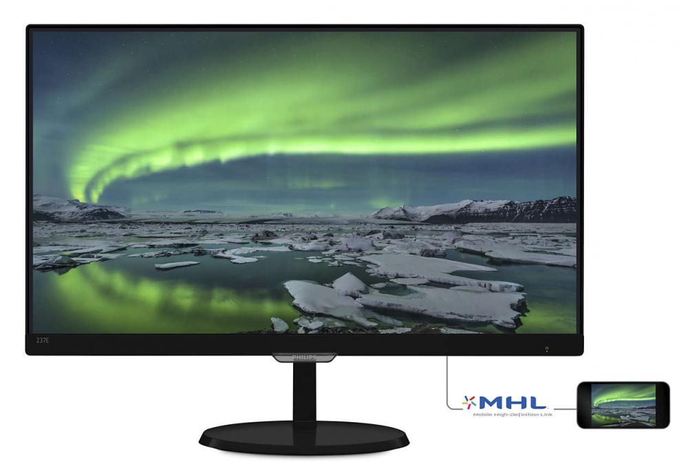 "Монитор 23"" Philips 237E7QDSB IPS Full HD (1920x1080), 5ms, Черен"