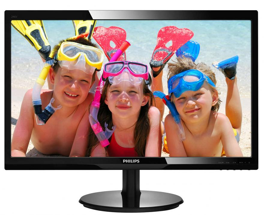 "Full HD Монитор Philips 246V5LDSB, 24"" TN, 1 ms, FHD (1920x1080)"