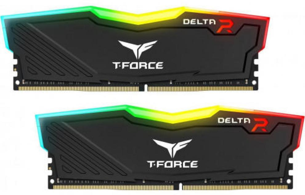 Памет Team Group T-Force Delta RGB Black DDR4  32GB (2x16GB) 3000MHz CL16-18-18-38 1.35V