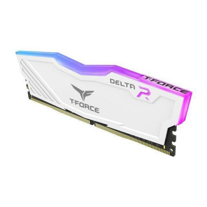 Памет Team Group T-Force DELTA RGB DDR4 8GB 3000 mhz CL16-18-18-36 1.35V Бял