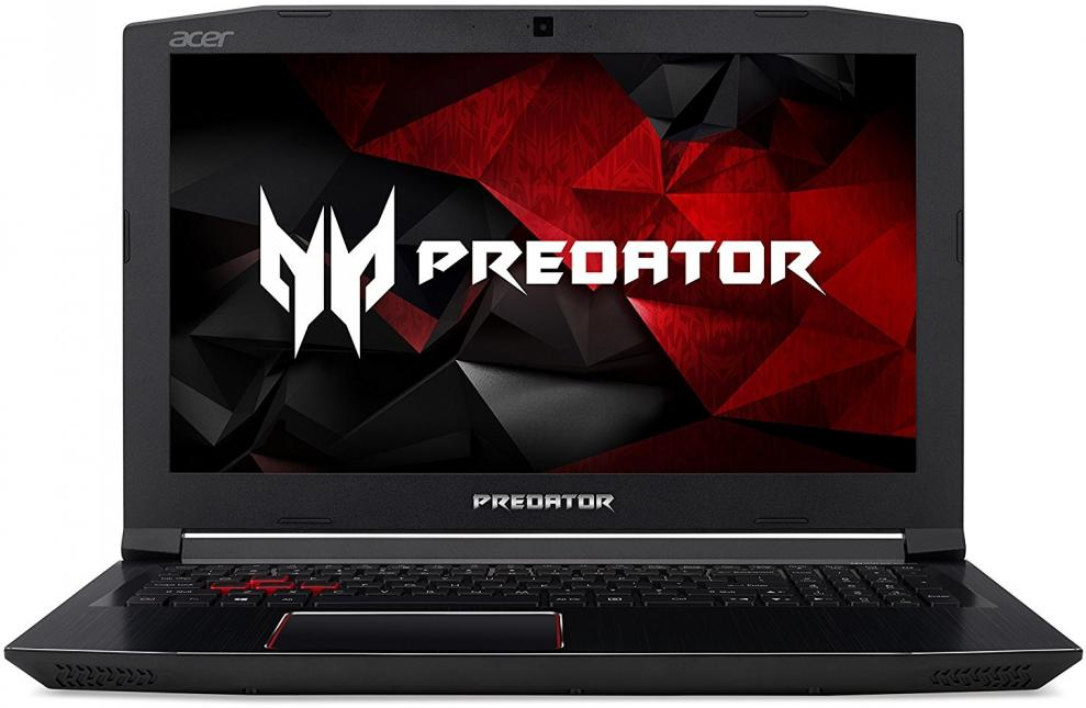 "UPGRADED Acer Predator Helios 300, 15.6"" FHD IPS, i7-7700HQ, 16GB DDR4, 1TB HDD, GTX 1060 6GB, NH.Q2BEX.005, Черен 1"