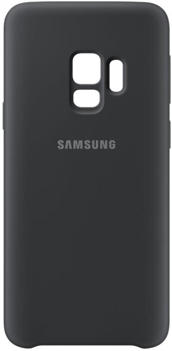 Гръб за Samsung Galaxy S9, Silicon Cover, черен