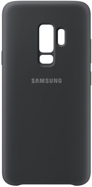 Гръб за Samsung Galaxy S9 +, Silicon Cover, черен