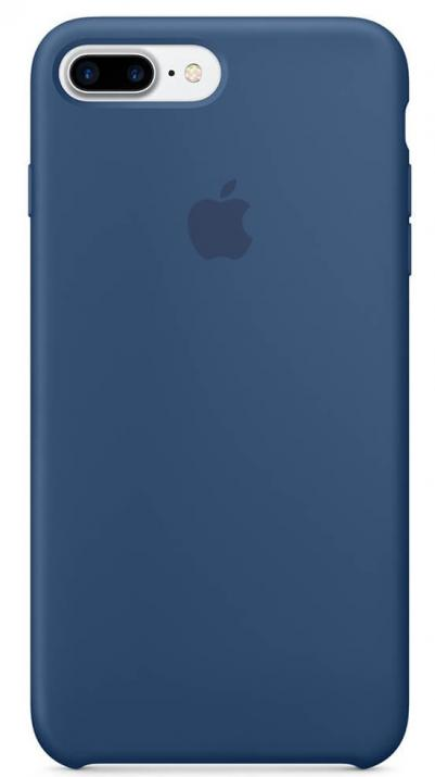 Гръб за Apple iPhone 7 Plus (MMQX2ZM/A), Silicone Case, Син