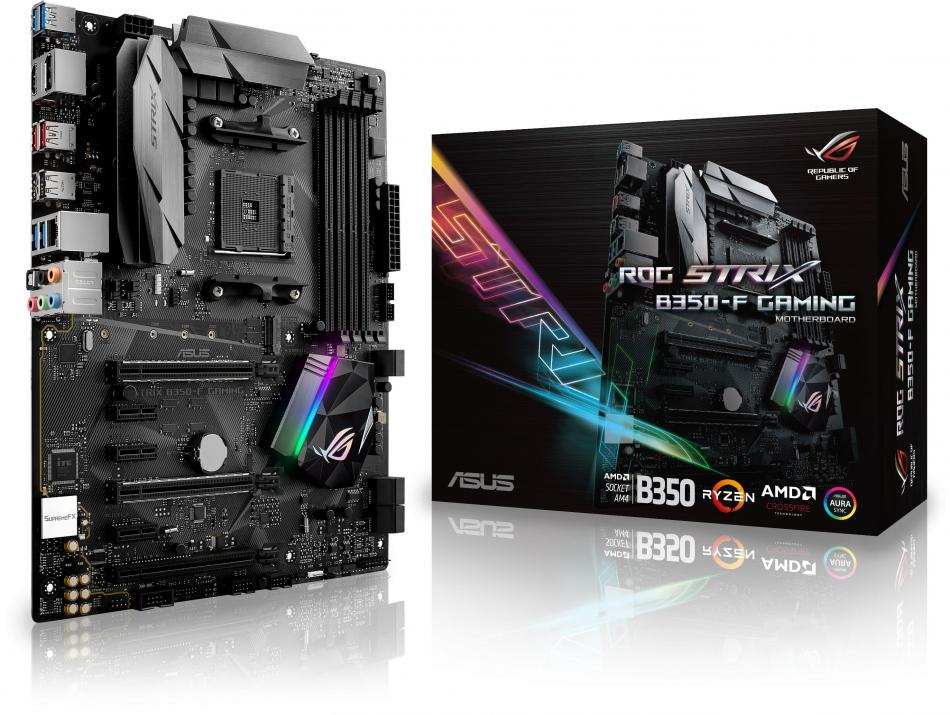 Дънна платка ASUS ROG Strix B350-F Gaming (ASUS-MB-STRIX-B350F-GAMING)