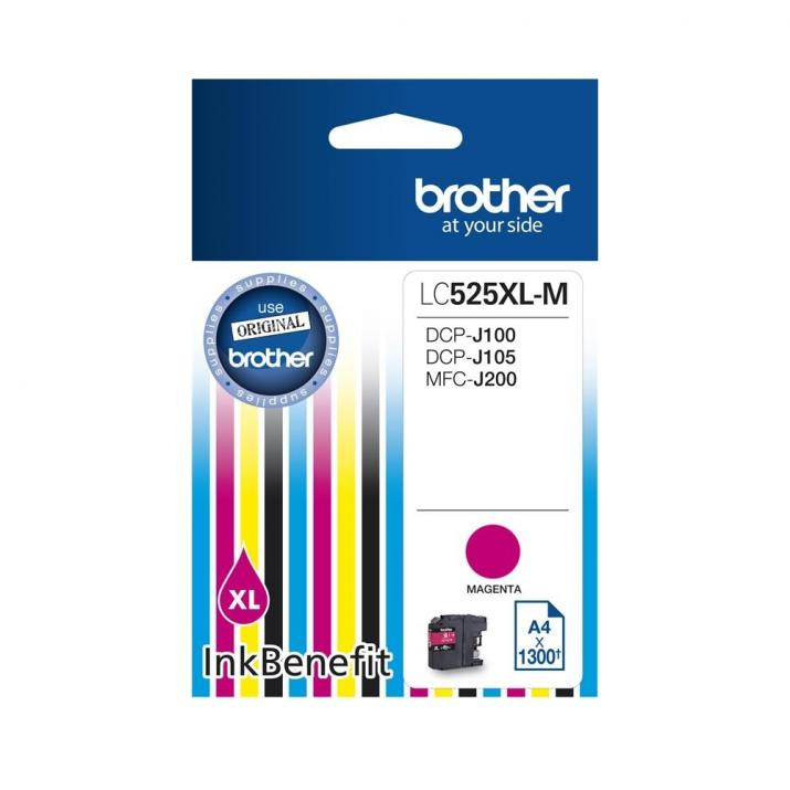 Оригинално мастило Brother LC-525 XL Magenta за Brother DCP-J100, DCP-J105, MFC-J200