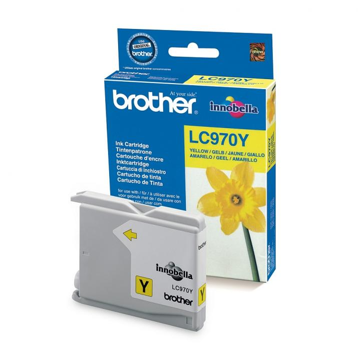 Оригинален консуматив Brother LC970Y Yellow за Brother DCP135C, DCP150C, MFC235C, MFC260C