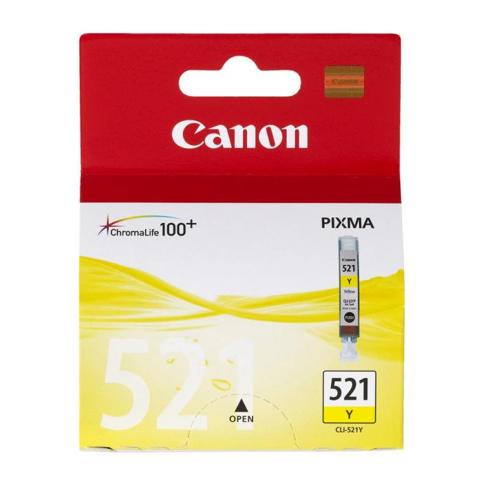 Оригинален патрон Canon Ink Tank CLI-521 Yellow