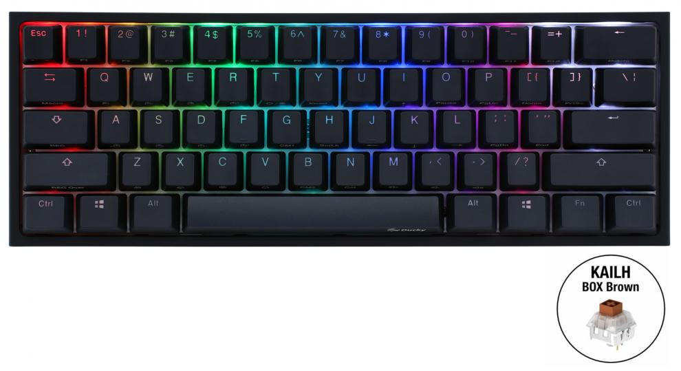 Геймърскa механична клавиатура Ducky One 2 Mini V2 RGB, Kailh BOX Brown | 2061-KUSPDAZTK 1