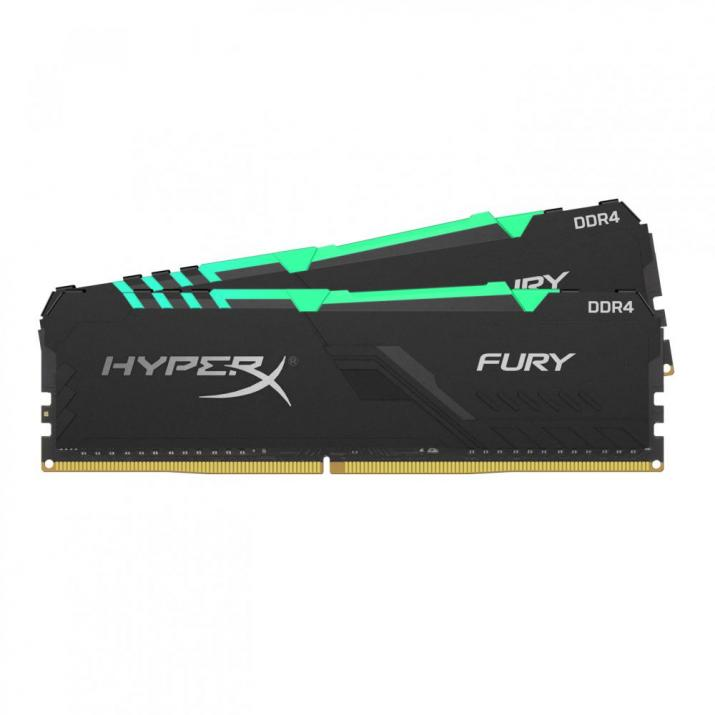 Памет Kingston HyperX Fury RGB 16GB(2x8GB) DDR4 2666Mhz HX426C16FB3AK2/16