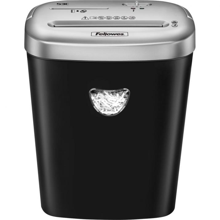 Шредер Fellowes Powershred 53C Cross-Cut с удобна дръжка