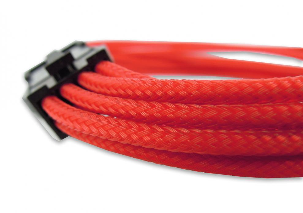 GELID 8pin Power extension cable 30cm individually sleeved RED