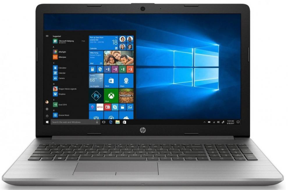 "UPGRADED HP 250 G7, 15.6"" FHD, i5-1035G1, 12 GB RAM, 1TB HDD, 128 GB SSD, DVD-RW, Silver, Win10 1"