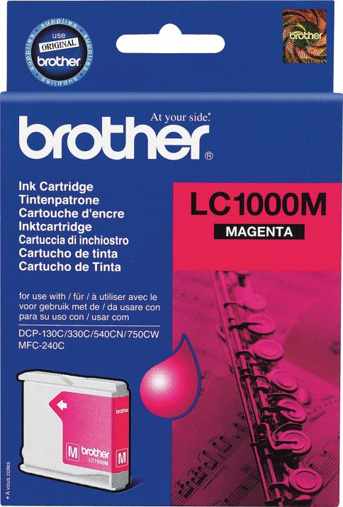 Оригинална мастилница Brother LC1000M Magenta за Brother DCP330C, DCP540CN, MFC5460CN