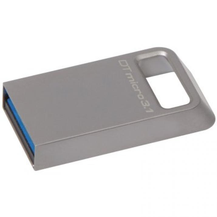 Kingston 128GB DT Micro USB 3.1/3.0 Type-A metal ultra-compact drive, Сребрист