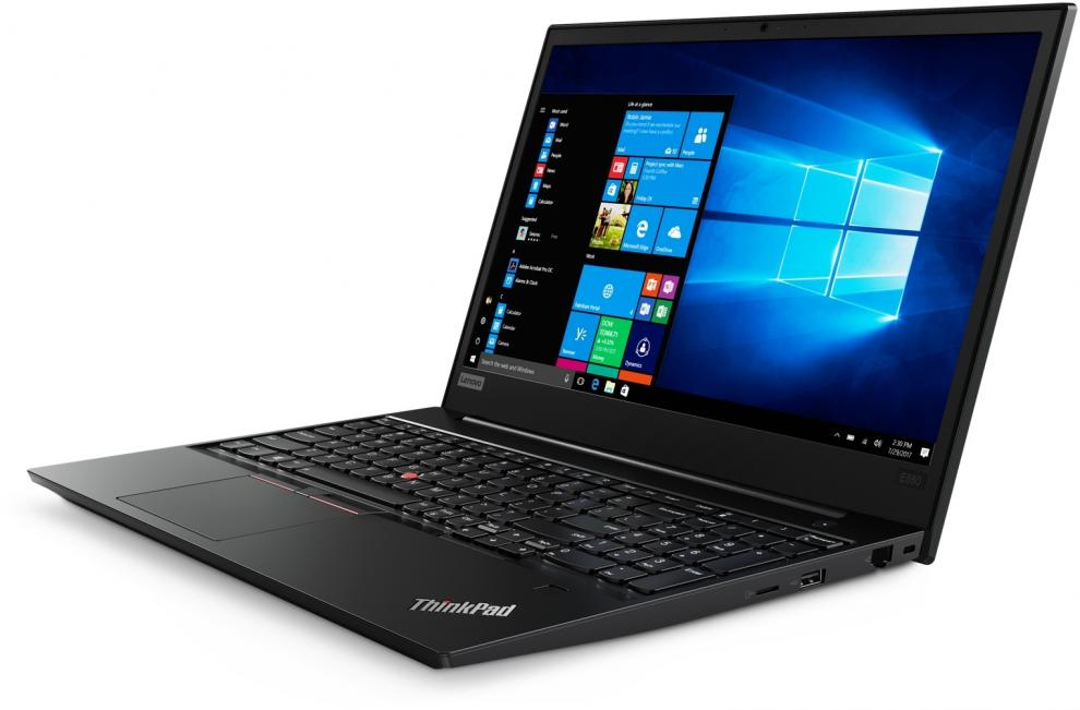"UPGRADED Лаптоп Lenovo ThinkPad Edge E580 (20KS008FBM_5WS0G91531) 15.6"" HD, i3-8130U, 12GB RAM, 128GB SSD, 500GB HDD, Win 10 Pro, Черен"