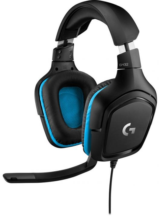 Геймърски слушалки Logitech G432 7.1 Surround Sound Gaming Headset 981-000770