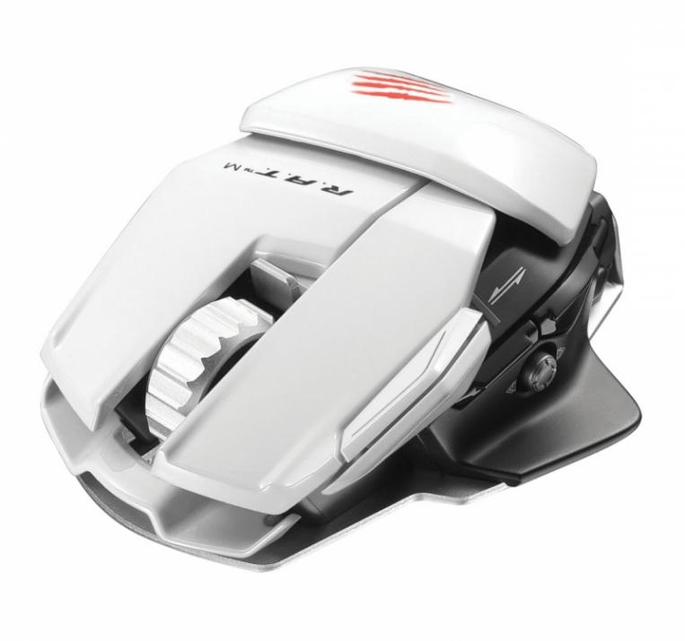 Геймърска мишка Mad Catz Cyborg R.A.T. M Bluetooth, Бяла (R.A.T. M-White)