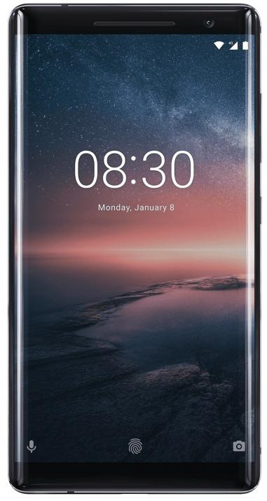 "Nokia 8 Sirocco (2018) 5.5"" P-OLED QHD, 128GB, Single SIM, Черен"