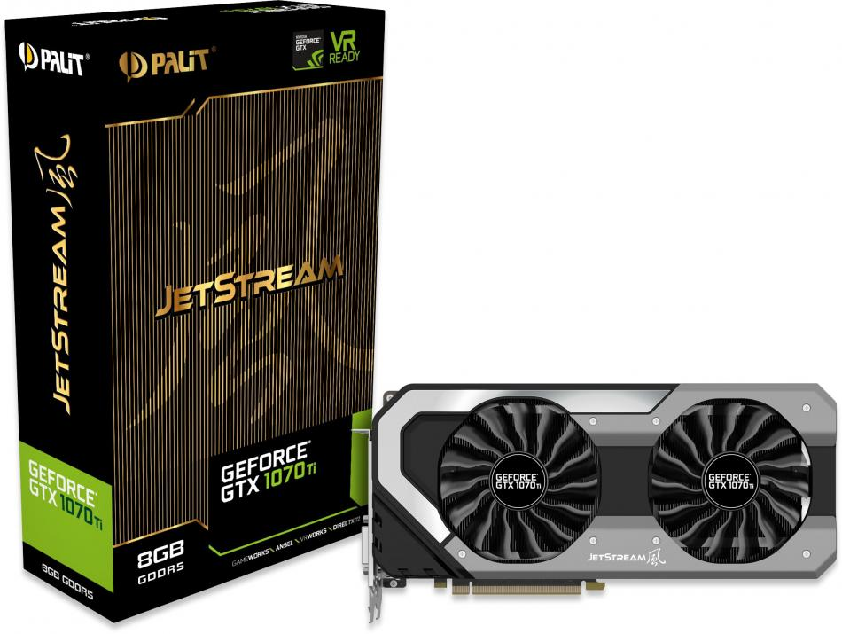 Видео карта Palit GeForce GTX 1070 Ti JetStream 8GB GDDR5 256bit PCIe (NE5107T015P2-1041J)