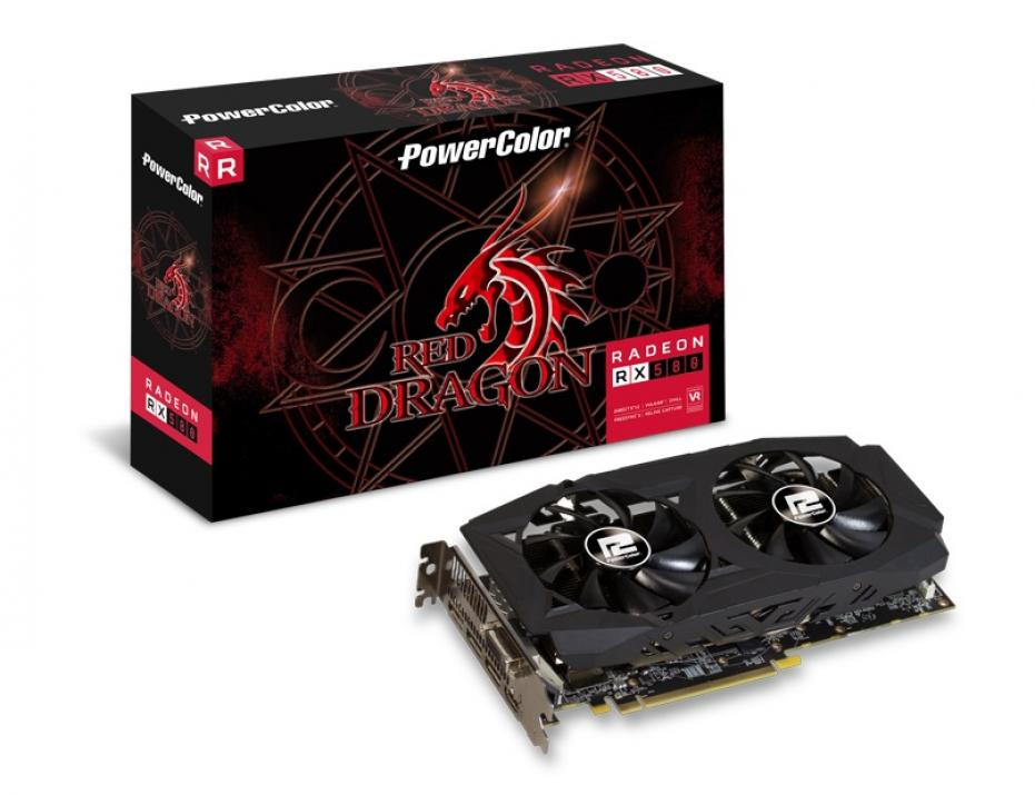 Видео карта PowerColor Radeon RX 580 Red Dragon 8GB GDDR5 (POWER C AXRX580 8GBD5-DHDM)