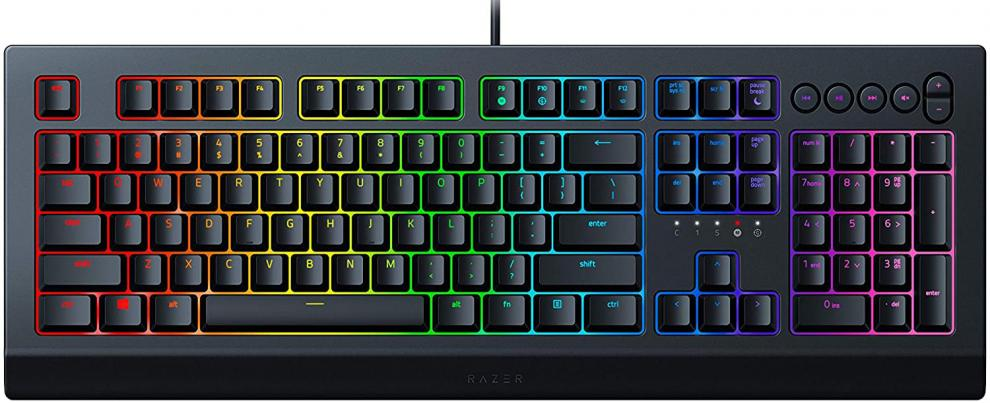 Геймърска клавиатура Razer Cynosa V2, RGB backlighting, Черна