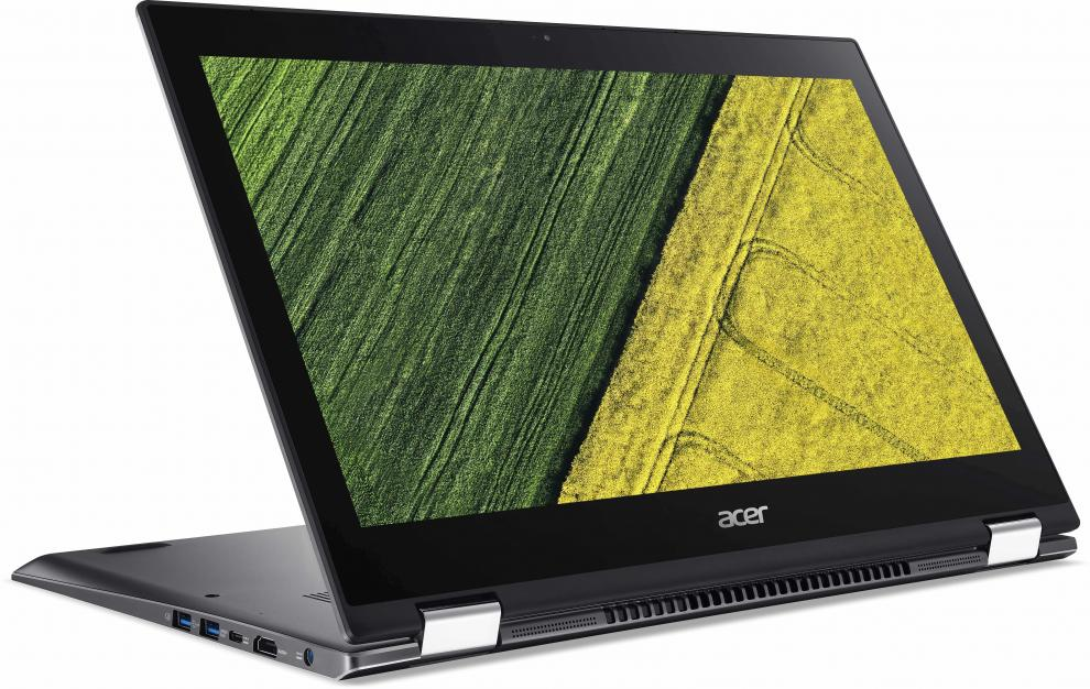 """Acer Aspire Spin 5 (NX.GR7EX.008) 13.3"""" IPS FHD Touch, i7-8550U, 8GB RAM, 256GB SSD, Win 10, Active Stylus, Сребрист"""