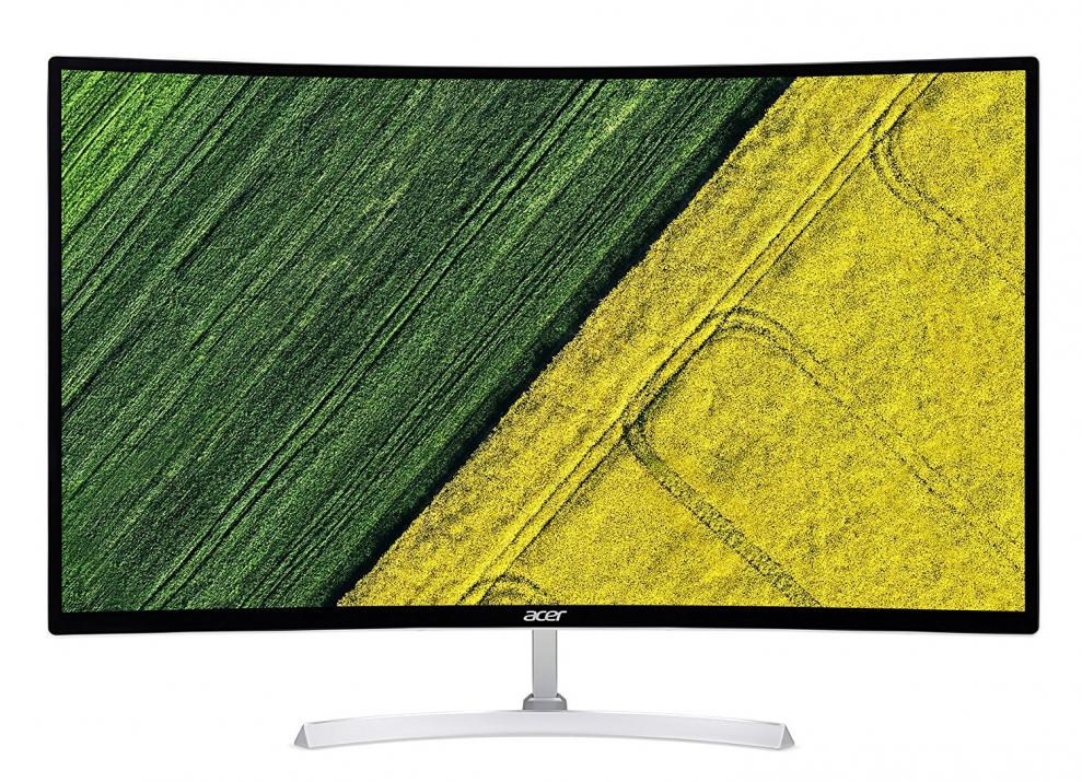 """Acer EB321QURWIDP, 31.5"""" TN Curved, WQHD (2560 x 1440), 1 ms, Бял (UM.JE1EE.009)"""