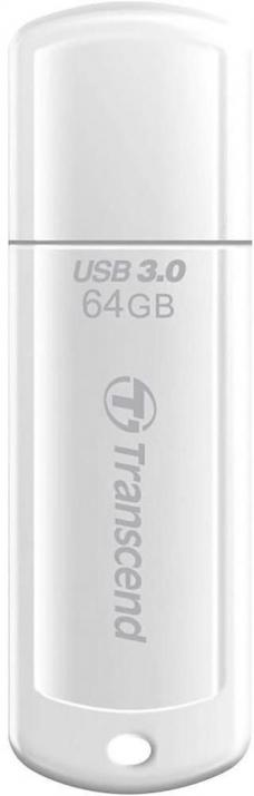 Флаш памет 64GB Transcend JETFLASH 730, USB 3.0, 80 Mb/s, Бял