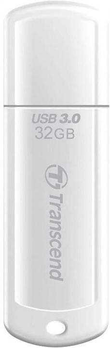 Флашка Transcend 32GB JETFLASH 730, USB 3.0, 70 Mb/s, Бял