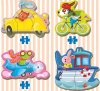 Пъзел Educa BABY DRIVING ANIMALS от 19 части - (17141)